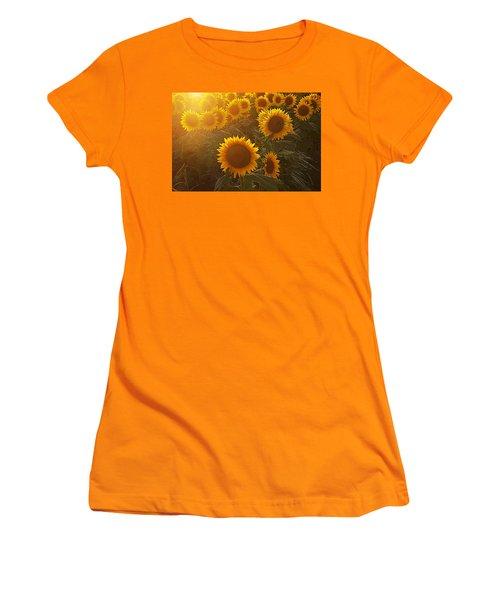 Late Afternoon Golden Glow Women's T-Shirt (Junior Cut) by Karen McKenzie McAdoo