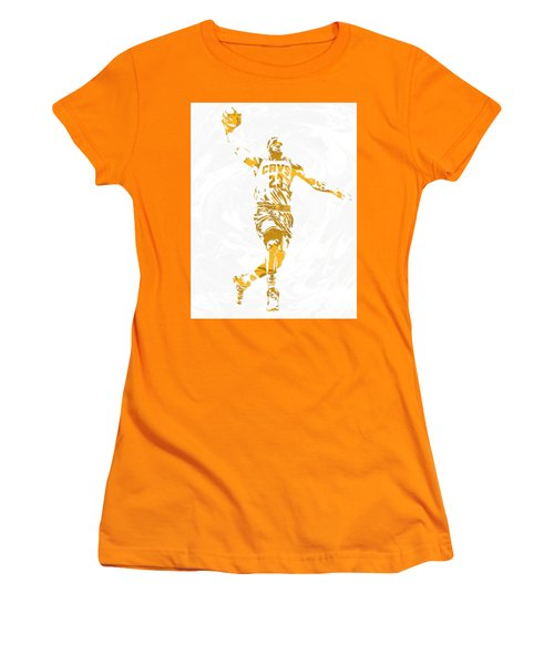 Lebron James Cleveland Cavaliers Pixel Art 12 Women's T-Shirt (Athletic Fit)
