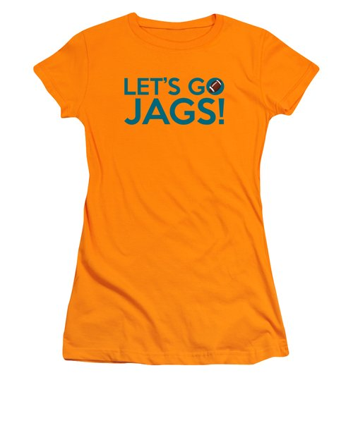 Let's Go Jags Women's T-Shirt (Athletic Fit)