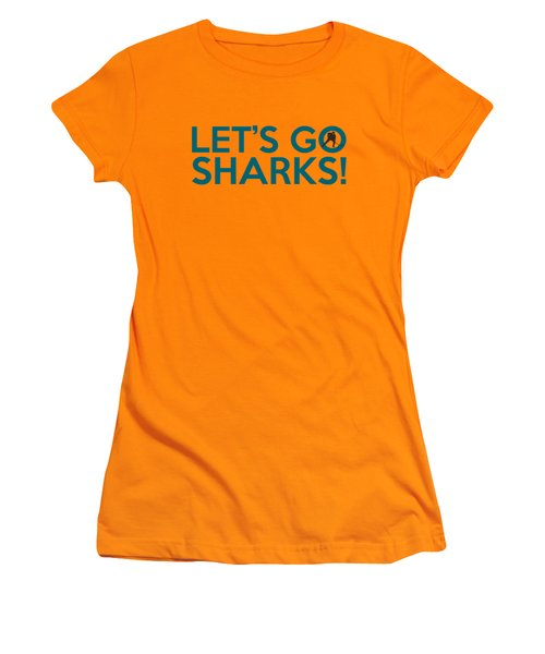 Let's Go Sharks Women's T-Shirt (Junior Cut) by Florian Rodarte