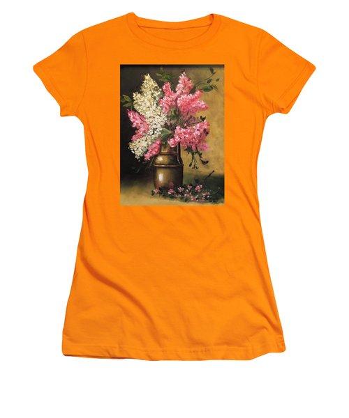 Lilacs Women's T-Shirt (Junior Cut) by Sharon Schultz