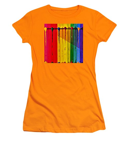 Line Of Fall Colors Women's T-Shirt (Athletic Fit)