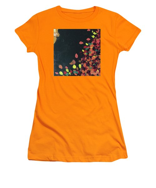 Women's T-Shirt (Athletic Fit) featuring the painting Lioness' Pride 6 Of 6 by Donald J Ryker III