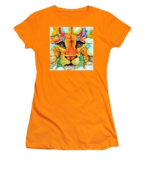 Lion's Head Gold Women's T-Shirt (Athletic Fit)