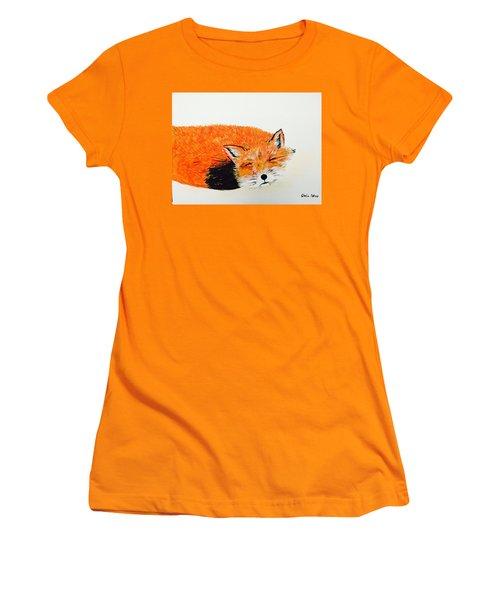 Little Fox Women's T-Shirt (Athletic Fit)