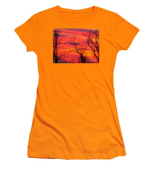 Little More Color At Sunset Women's T-Shirt (Athletic Fit)