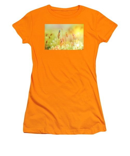 Little World Women's T-Shirt (Junior Cut) by Nikki McInnes