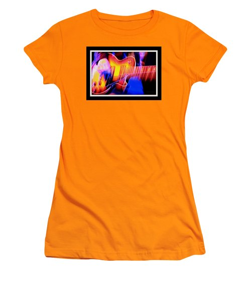 Women's T-Shirt (Junior Cut) featuring the photograph Live Music by Chris Berry