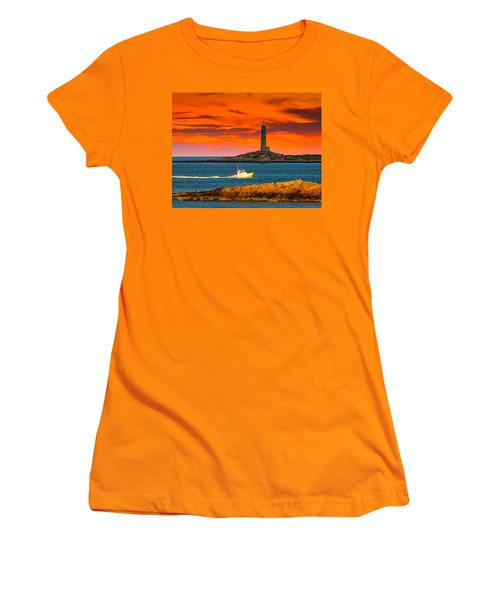 Lobster Boat Cape Cod Women's T-Shirt (Athletic Fit)