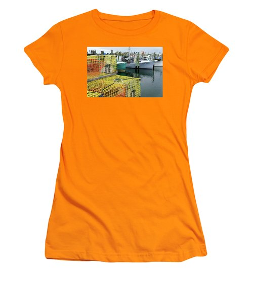 Lobster Traps In Galilee Women's T-Shirt (Athletic Fit)