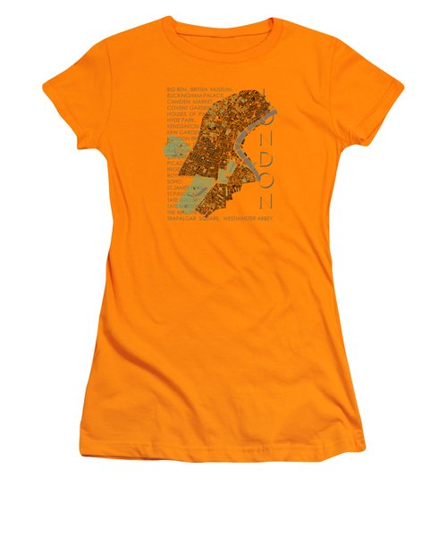 London Classic Map Women's T-Shirt (Athletic Fit)