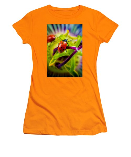 Women's T-Shirt (Junior Cut) featuring the photograph Look At The Colors Over There. by TC Morgan