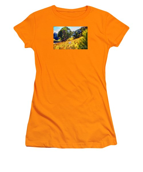 Women's T-Shirt (Junior Cut) featuring the photograph Lost Lamb by Rick Bragan