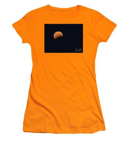 Lunar Blood Moon Eclipse Women's T-Shirt (Athletic Fit)