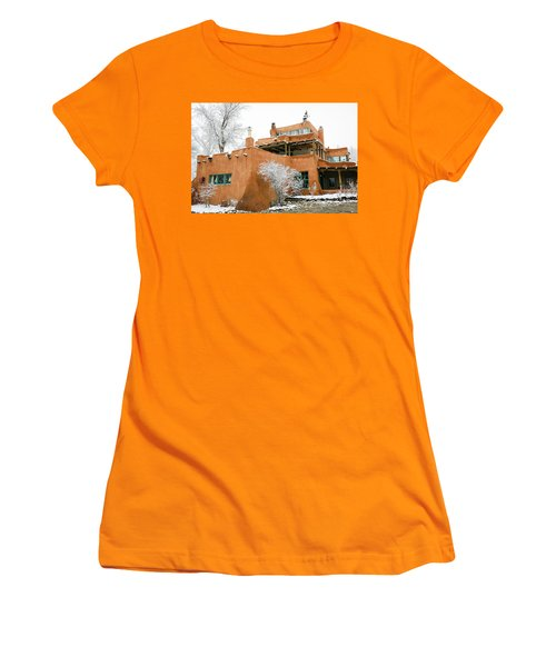 Women's T-Shirt (Junior Cut) featuring the photograph Mabel Luhan Dodge House 1 by Marilyn Hunt