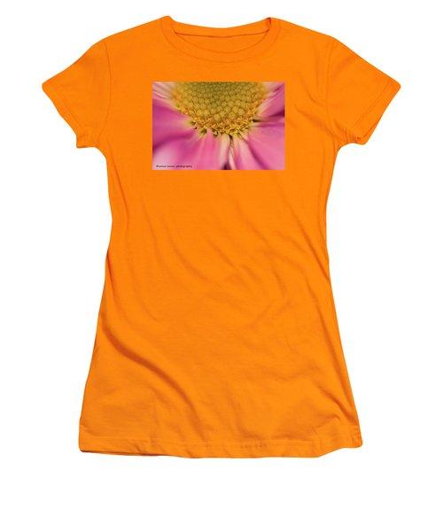 Macro Daisy Women's T-Shirt (Junior Cut) by Nance Larson