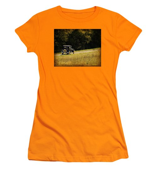 Madison County Back Roads-ford Women's T-Shirt (Junior Cut) by Kathy M Krause