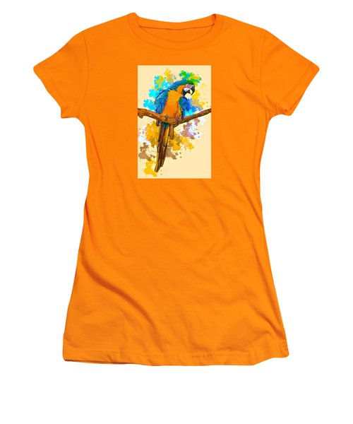 Women's T-Shirt (Junior Cut) featuring the photograph Making A Splash by Brian Tarr