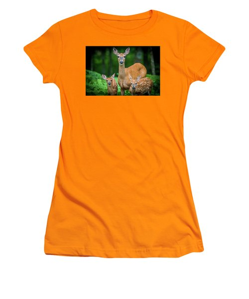 Mama And Fawns Women's T-Shirt (Athletic Fit)