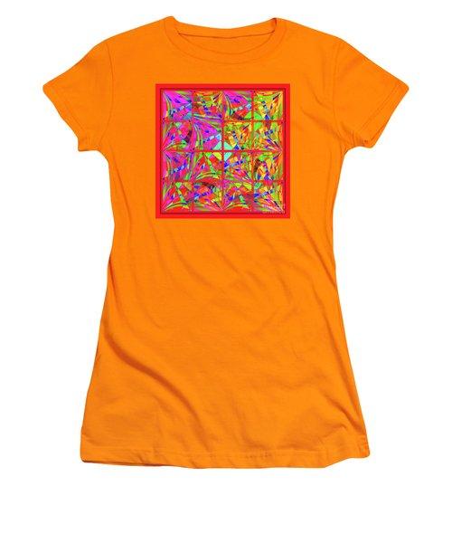 Women's T-Shirt (Junior Cut) featuring the digital art Mandala #48 by Loko Suederdiek