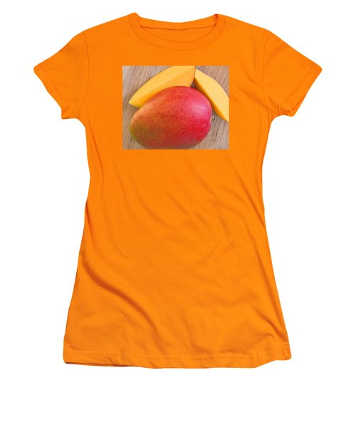 Women's T-Shirt (Athletic Fit) featuring the digital art Mango by Jana Russon