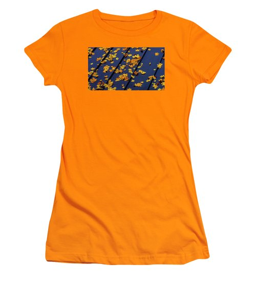 Maple Leaves On A Metal Roof Women's T-Shirt (Athletic Fit)