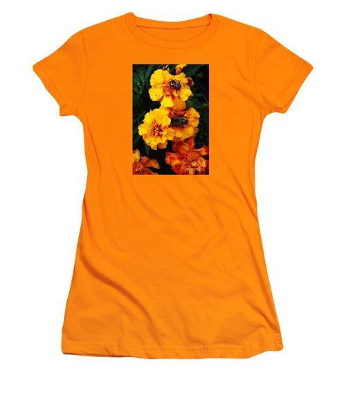 Marigold Cluster Women's T-Shirt (Junior Cut) by J L Zarek