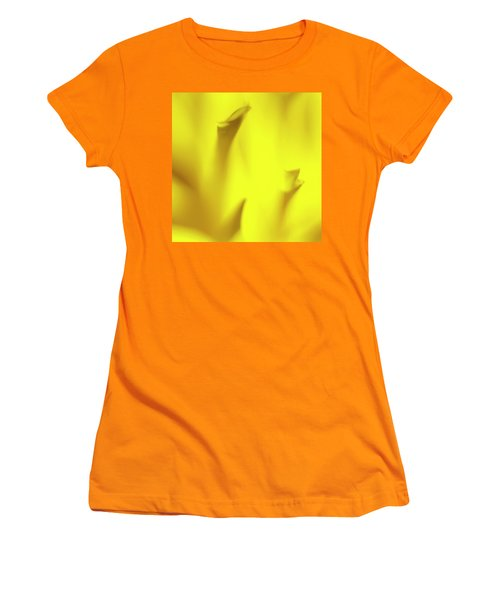 Mellow Yellow Women's T-Shirt (Junior Cut) by Tony Locke