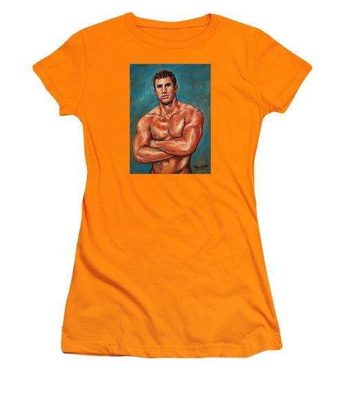 Man Sweat Women's T-Shirt (Athletic Fit)