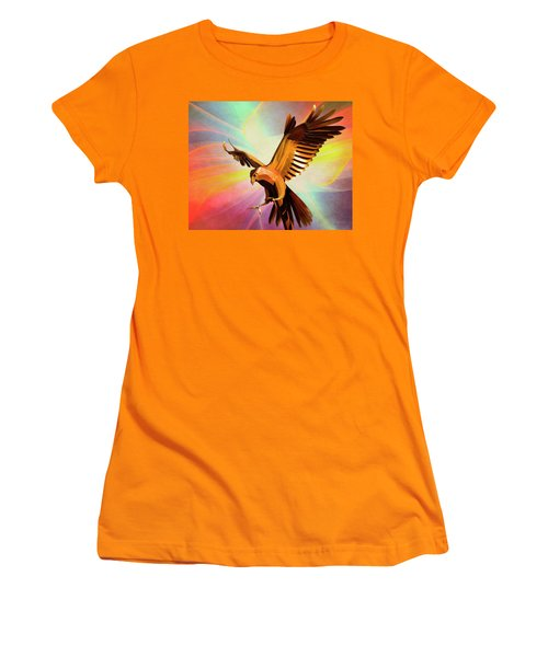 Metal Bird 1 Of 4 Women's T-Shirt (Athletic Fit)