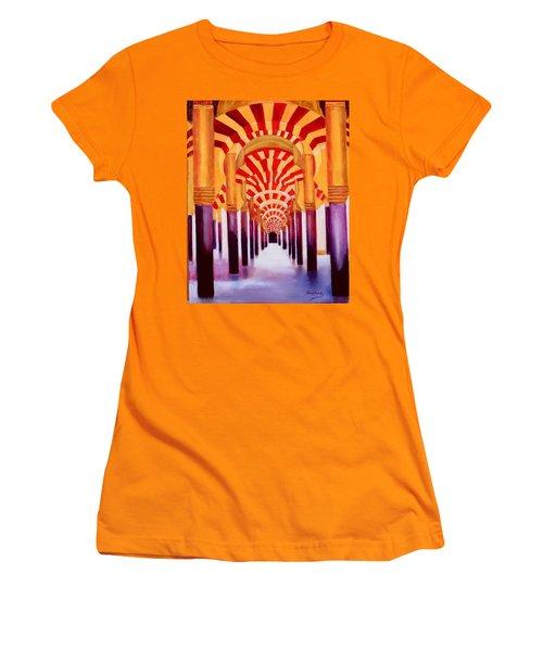 Mezquita De Cordoba Women's T-Shirt (Junior Cut) by Manuel Sanchez