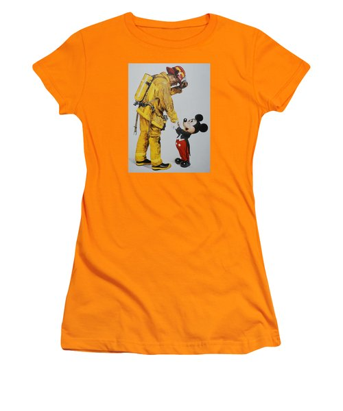 Mickey And The Bravest Women's T-Shirt (Junior Cut) by Rob Hans