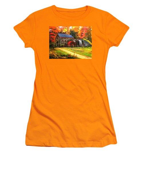 Mill House Women's T-Shirt (Junior Cut) by Rose Wang
