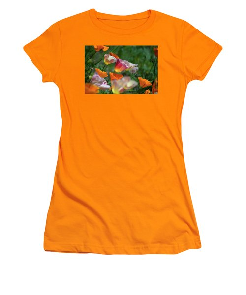 Mission Bell Poppies Women's T-Shirt (Athletic Fit)