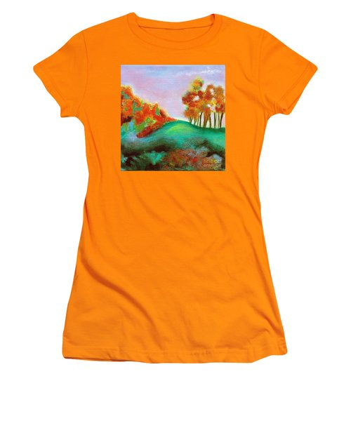 Misty Morning Women's T-Shirt (Junior Cut) by Elizabeth Fontaine-Barr