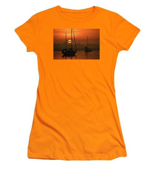 Misty Morning Sunrise Women's T-Shirt (Athletic Fit)