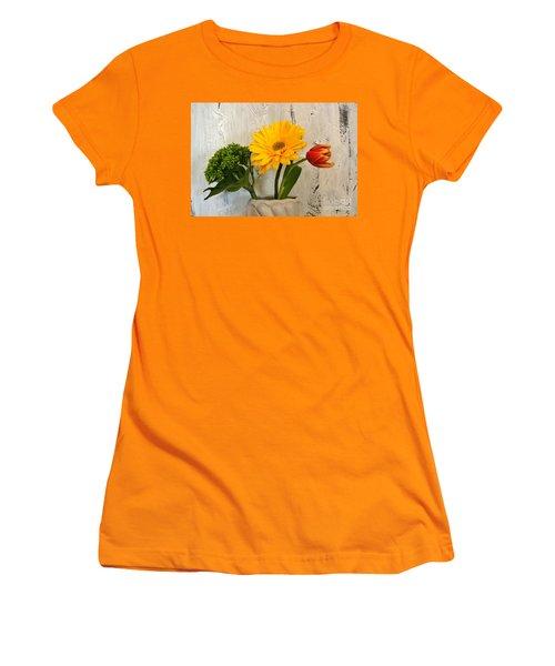 Women's T-Shirt (Junior Cut) featuring the photograph Modern Bouquet by Marsha Heiken