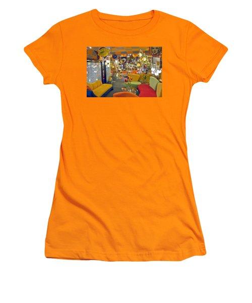 Women's T-Shirt (Junior Cut) featuring the photograph Modern Deco Furniture Store Interior by David Zanzinger