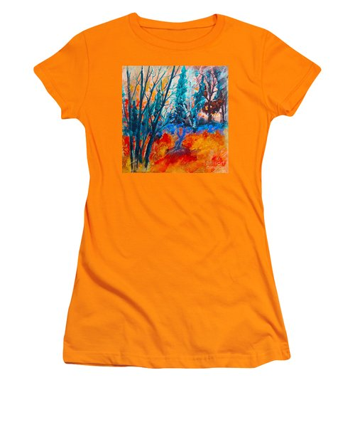 Modern Woods Women's T-Shirt (Athletic Fit)