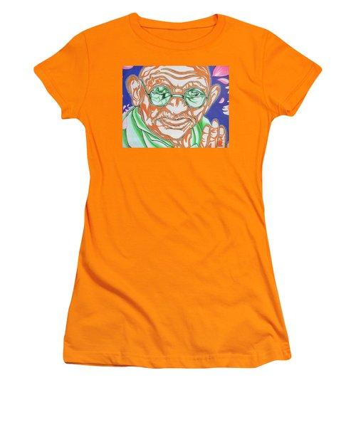 Women's T-Shirt (Junior Cut) featuring the photograph Mohandas Karamchand Gandhi  by Juergen Weiss