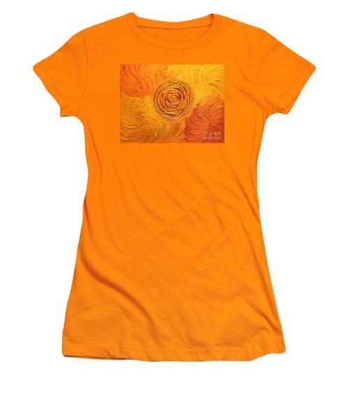 Molten Spiral Women's T-Shirt (Junior Cut) by Rachel Hannah
