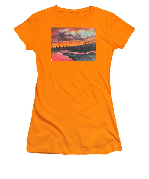 Montana Sunset Women's T-Shirt (Athletic Fit)