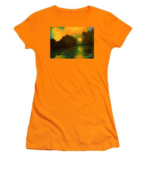 Moon Glow Women's T-Shirt (Junior Cut) by Alison Caltrider