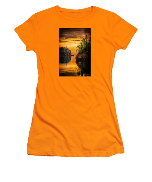 Women's T-Shirt (Junior Cut) featuring the photograph Morning Glow Against The Light by Rikk Flohr