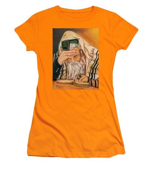 Morning Prayer Women's T-Shirt (Junior Cut) by Itzhak Richter