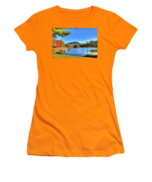 Mount Jefferson Reflection Women's T-Shirt (Junior Cut) by Dale R Carlson
