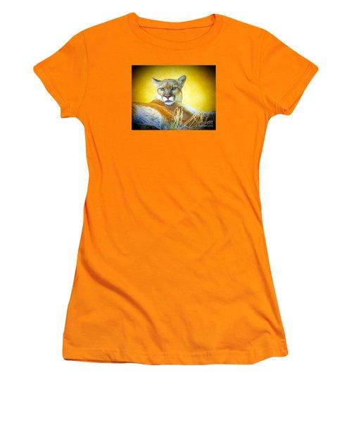 Mountain Lion Two Women's T-Shirt (Junior Cut) by Suzanne Handel
