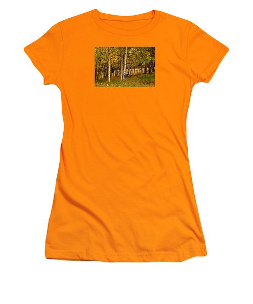 Women's T-Shirt (Junior Cut) featuring the photograph Mountain Meadow by Laura Ragland