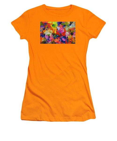 Mr Autumn Meets  Lady Spring - Painting - Wet Paint  Women's T-Shirt (Athletic Fit)