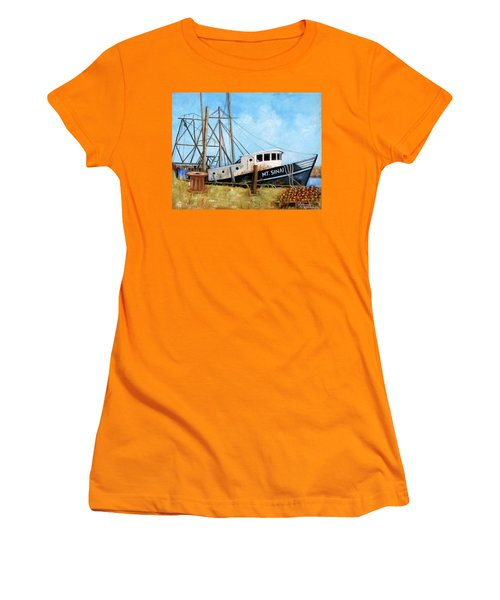 Mt. Sinai Fishing Boat Women's T-Shirt (Athletic Fit)